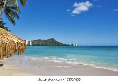 Diamond Head and Waikiki Beach on Oahu, Hawaii