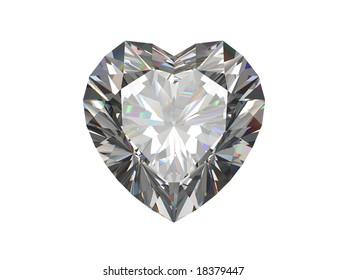 Diamond. Heart shape.