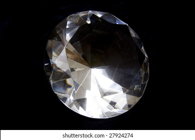 Diamond isolated on a black studio background