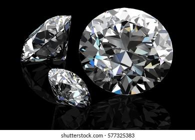 diamond jewel (high resolution 3D image)