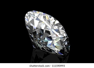 diamond jewel on black background