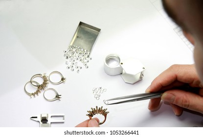 diamond jewelry production and design. hand made special stone selection