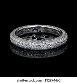 diamond micro pave eternity ring