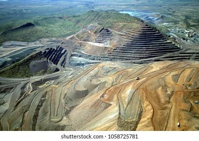 Diamond mine in the Kimberley region of Western Australia near the Ord river.