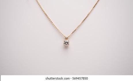 Diamond Necklace Macro Lens Shot