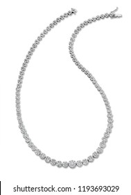 Diamond necklace on expensive and quality background