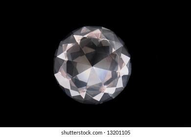 diamond on the black background
