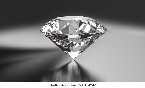 Diamond on the dark background. 3d illustration.