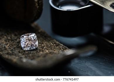 Diamond on the leather