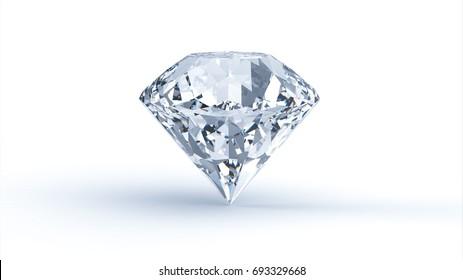 Diamond on white background. 3D render
