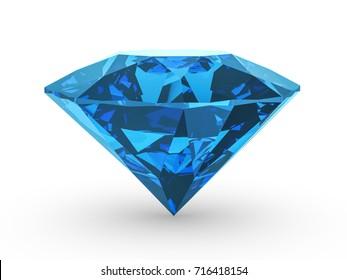 Diamond on a white background. 3D illustration.