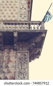 Diamond Palace. Architectural detail. Ferarra. Italy
