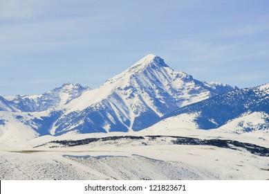 Diamond Peak in the Lemhi Mountain Range of Idaho.