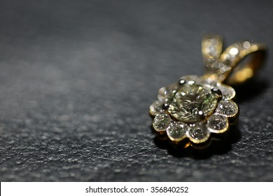 Diamond Pendant for background,Selective focus