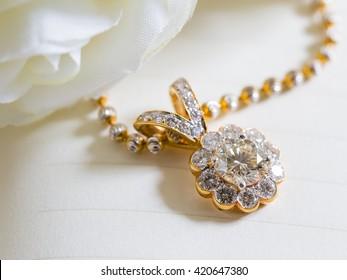 Diamond Pendant for background,Selective focus