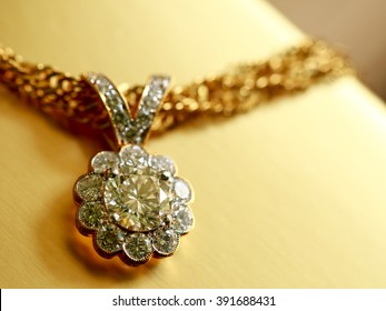Diamond Pendant for background,Selective focus in color filter