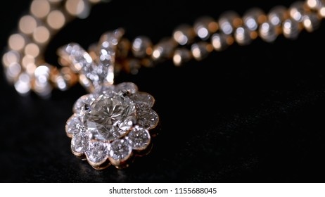 Diamond Pendant for background,Selective focus. Precious jewery for present.