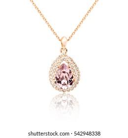 Diamond pendant isolated on white background