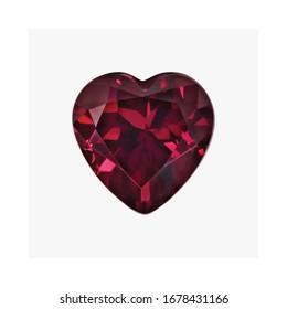 Diamond Rhodolite Garnet Shape Cushion Emerald Heart Marquise Octagon Checkerboard Oval Pear Square Trillion