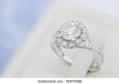 Diamond ring, closeup