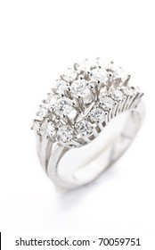 diamond ring isolated against a white background