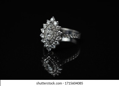 diamond ring with marquise stone