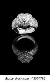 Diamond Ring on black ground