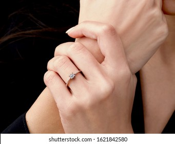 Diamond ring on fashion woman