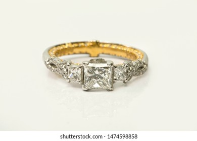 Diamond Ring on a plain background