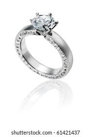 Diamond Ring wedding gift isolated