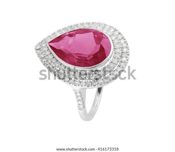 Diamond Ringelegance Luxury Ring Red Heart Stock Photo Edit Now
