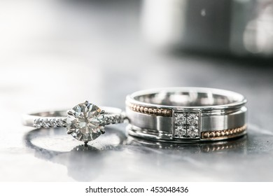 Diamond rings with background