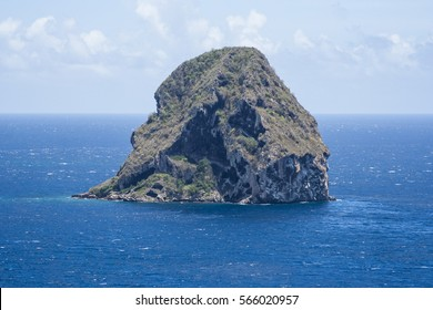 The Diamond Rock in Martinique.