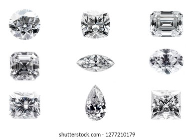 Diamond Shapes on White Background
