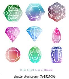 Diamond shapes On a white background.