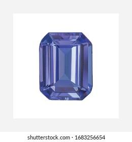 Diamond Tanzanite Shape Cushion Emerald Heart Marquise Octagon Checkerboard Oval Pear Square Trillion