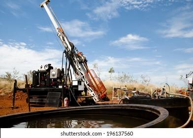 Diamond Tip Core Drill Rig & Water Sumps  - Australia