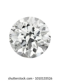 Diamond : top view of loose brilliant round diamonds on white background sharp high quality