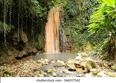 Diamond Waterfall in St. Lucia Botanical Gardens, Saint Lucia, Caribbean Islands