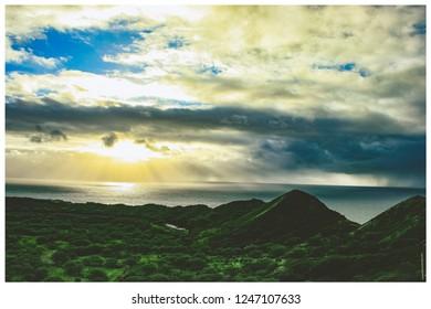 diamondhead hawaii sunrise