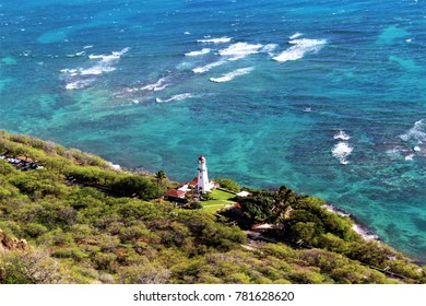 Diamondhead Lighthouse as seen from the top of Diamondhead Hawaii