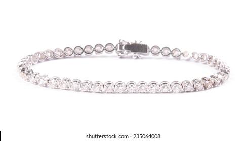 Diamonds bracelet isolated on white background
