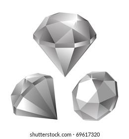 diamonds, different view, illustration