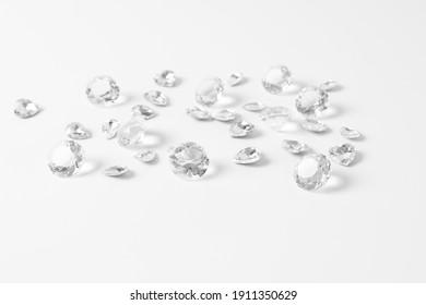 diamonds isolated on white background