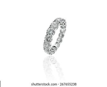 Diamonds Wedding Eternity Band Ring in Platinum