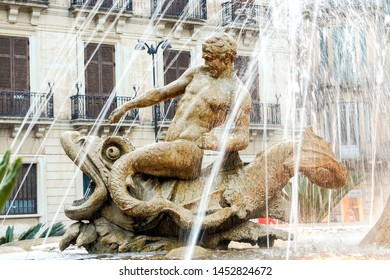 The Diana Fountain on Archimedes Square in Syracuse, Sicily - Italy.