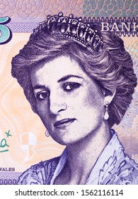 Diana, Princess of Wales a portrait from Wales money