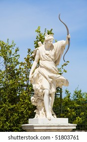 Diana's sculpture from Versailles Chateau gardens. France