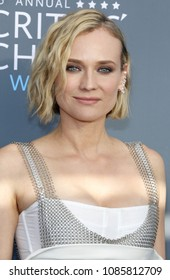 Diane Kruger at the 23rd Annual Critics' Choice Awards held at the Barker Hangar in Santa Monica, USA on January 11, 2018.