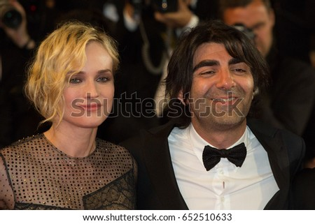 Diane Kruger, Fatih Akin attend In The Fade premiere at the 70th Festival de Cannes.